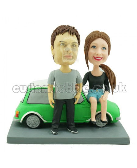 mini couple personalised bobbleheads
