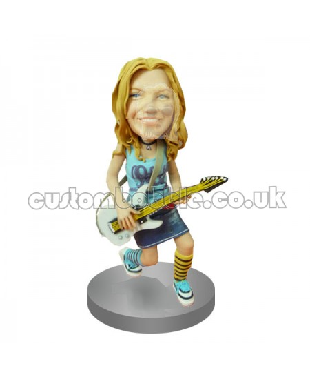bobblehead custom female guitarist