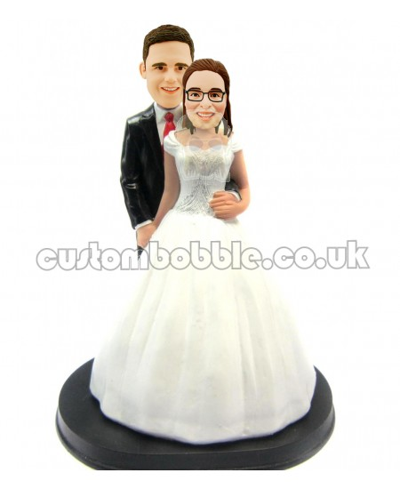 wedding cake topper bobbleheads
