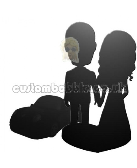 customised bobblehead for couple and car