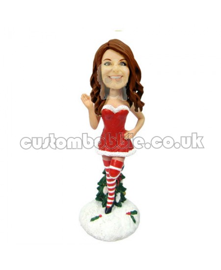customized christmas bobble head sexy woman