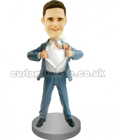 man in clark kent posepersonalized bobblehead