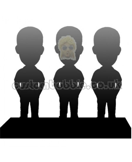 customised bobblehead for three persons