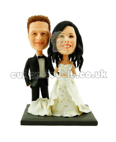 wedding cake topper personalised bride and groom