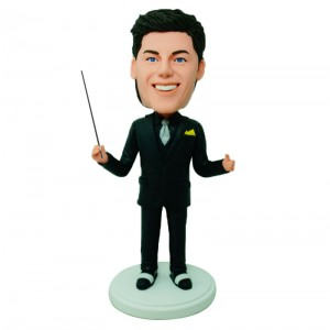 custom conductor bobble head doll