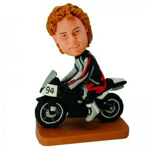custom motorcyclist bobblehead