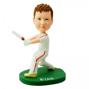 customised cricket player bobble head doll