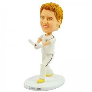 personalised cricket kid player bobblehead