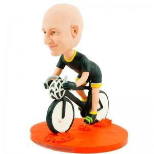 personalised cyclist bobblehead doll