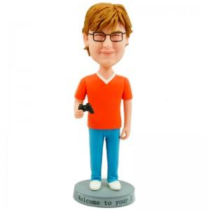 personalised gamer bobble head doll