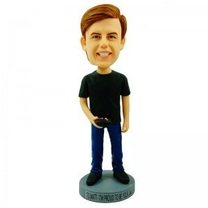 personalised gamer boy bobblehead doll