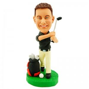 personalised golfer bobble head doll