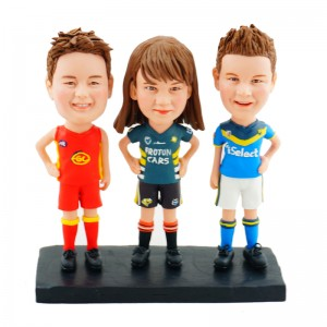 personalised three athletes bobblehead