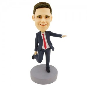custom bobblehead dancing colleague