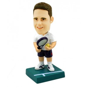 tennis player customised bobblehead