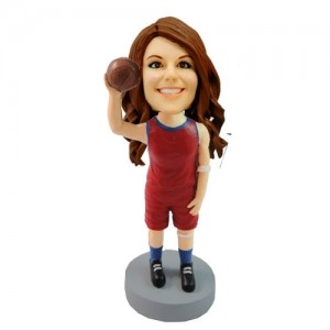girl basketball custom bobblehead