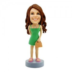 casual lady custom bobblehead