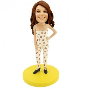 personalised fashion lady bobblehead