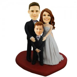 custom wedding and child bobblehead