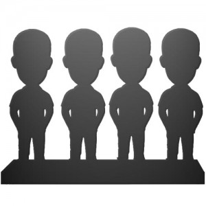 personalised bobblehead for four persons