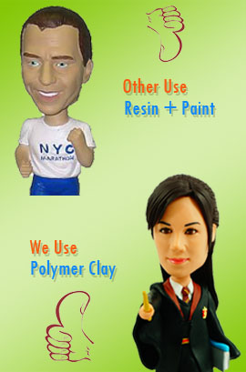 Custom Bobblehead Material Polymer Clay