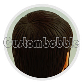 bobble head details hair
